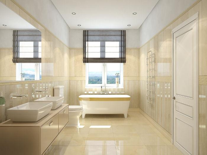 Как визуально расширить ванную комнату