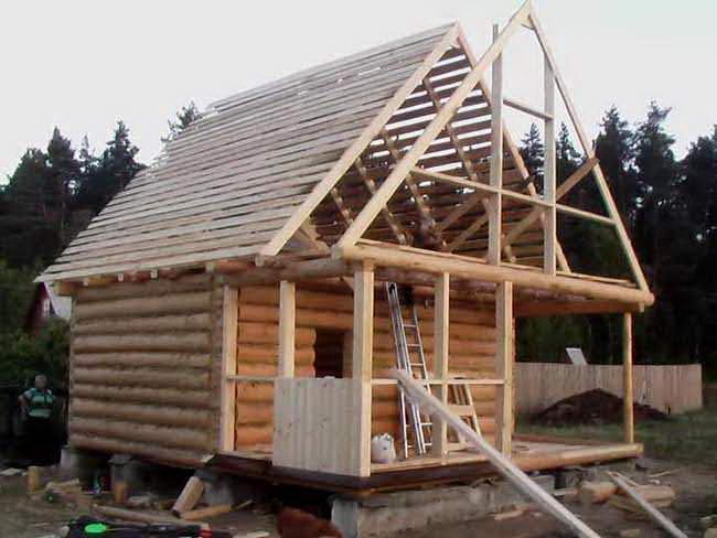 Как правильно сделать крышу бани