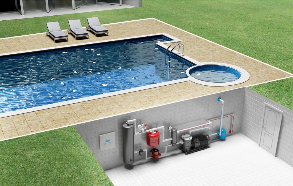 Подогрев воды в бассейне