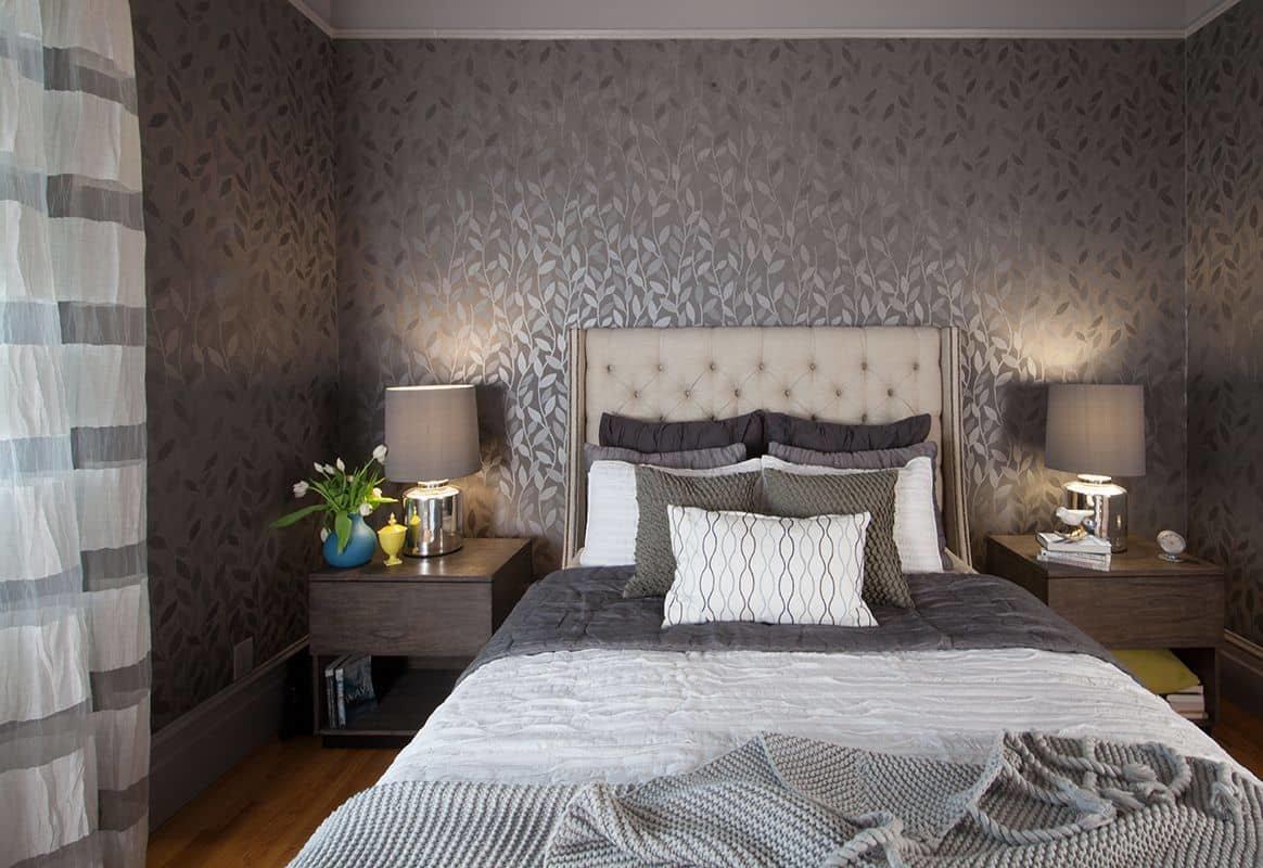 Ремонт спальной комнаты: выбор обоев