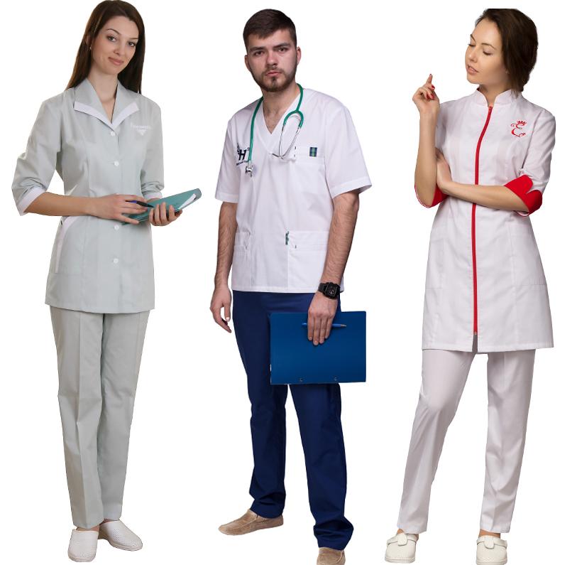 Вышивка и принты на медицинской одежде